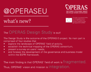 OPERAS Design Study now available