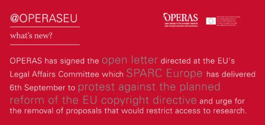 OPERAS signed SPARC open letter