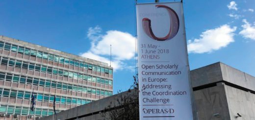 photo of OPERAS Conference banner, May/June 2018