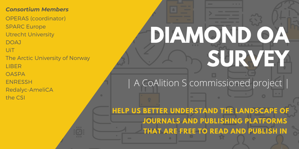 cOAlition S and OPERAS survey on Diamond Open Access Models