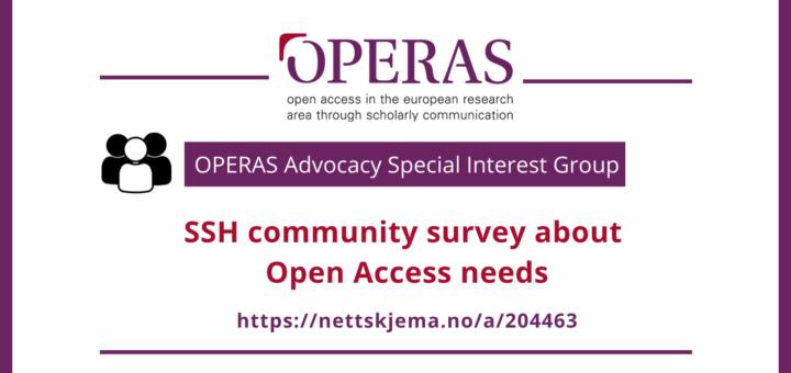 OPERAS Advocacy SIG community survey